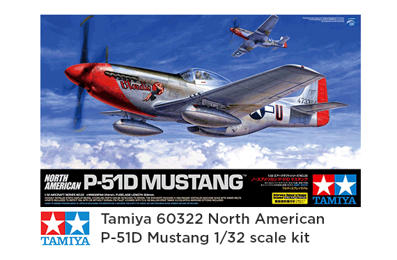 Tamiya 1//32 North American P-51D Mustang Model Kit 60322